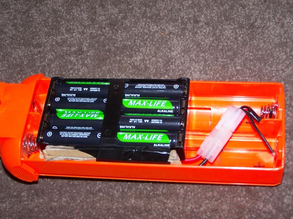 Nerf Stampede Voltage Modification