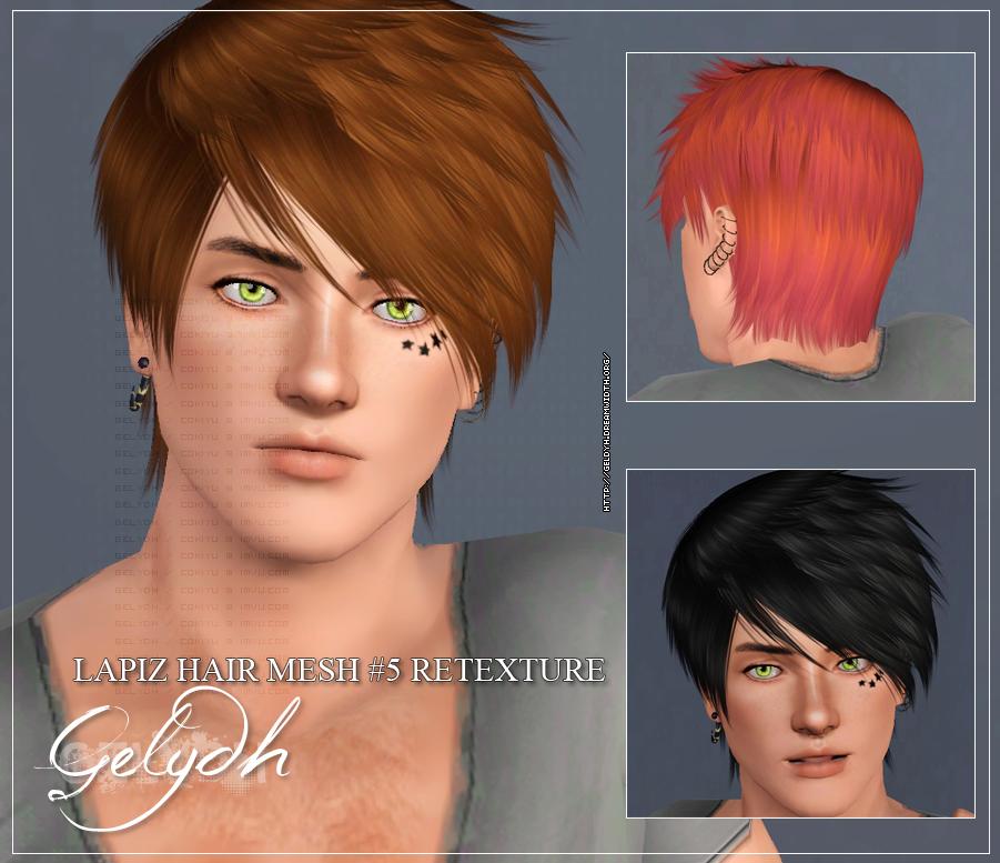 (SOLVED) WCIF these items? (star tattoos, male earrings, male eyebrows) Gelydh003