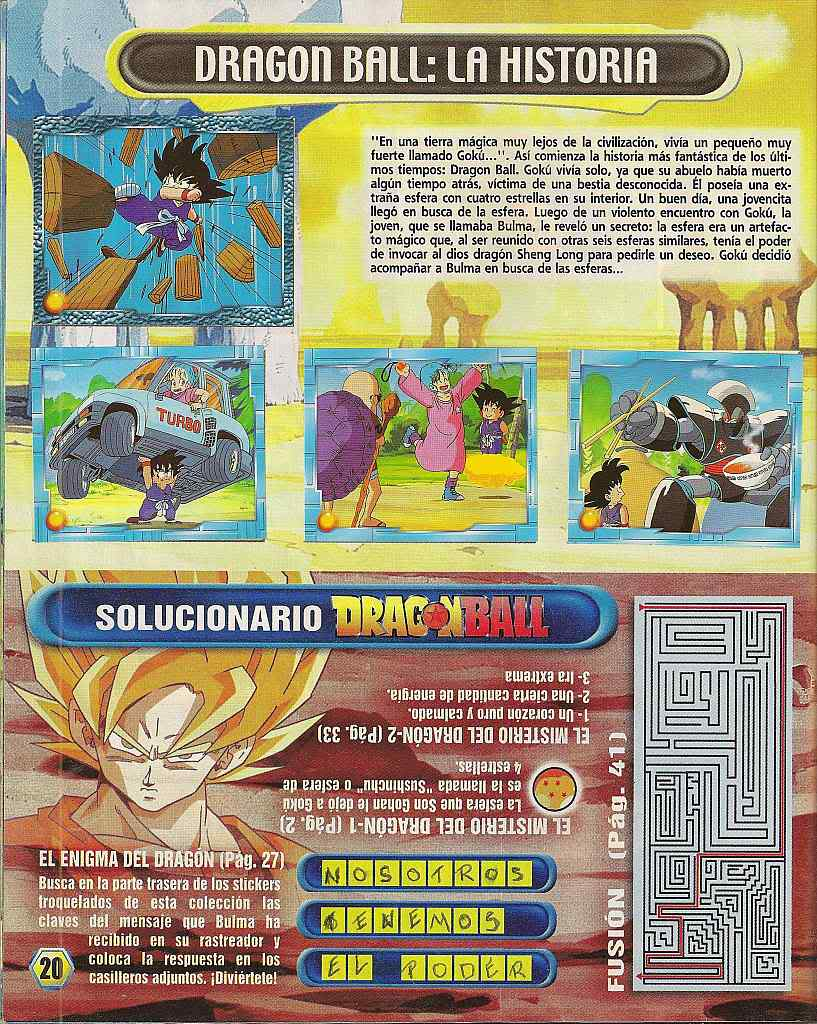 Dragon ball z: album de oro 20