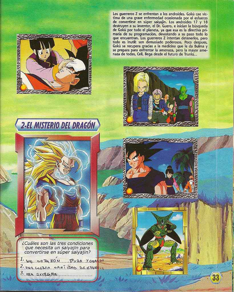 Dragon ball z: album de oro 33