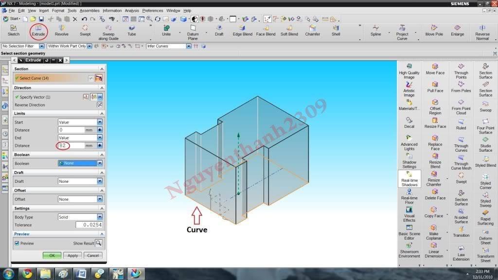Hướng dẫn bài tập Unigraphic NX - Bài 1 NX_10