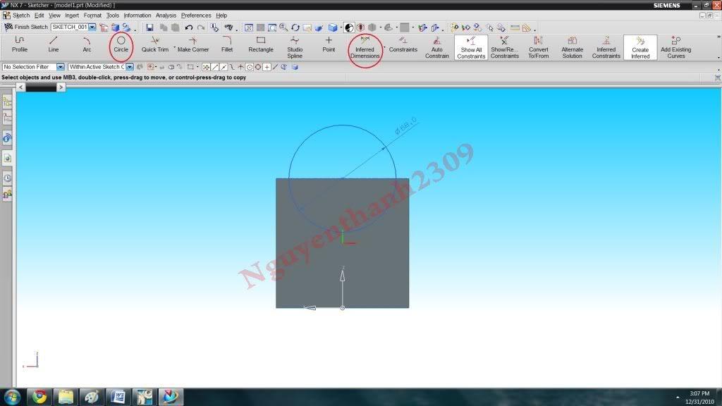 Hướng dẫn bài tập Unigraphic NX - Bài 1 NX_12