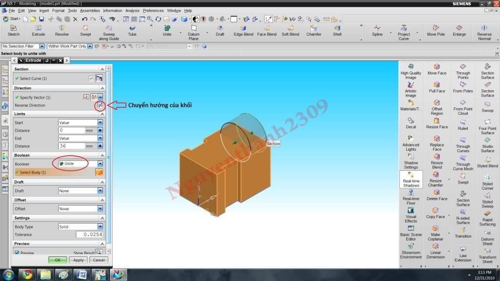 Hướng dẫn bài tập Unigraphic NX - Bài 1 NX_14