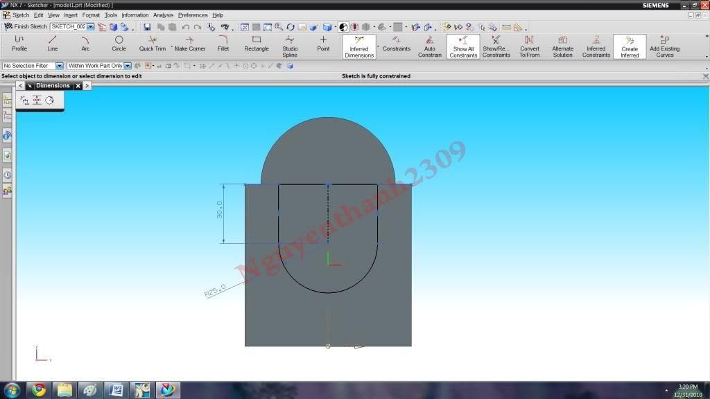 Hướng dẫn bài tập Unigraphic NX - Bài 1 NX_16