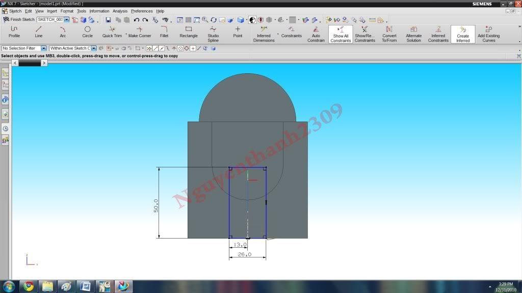Hướng dẫn bài tập Unigraphic NX - Bài 1 NX_18