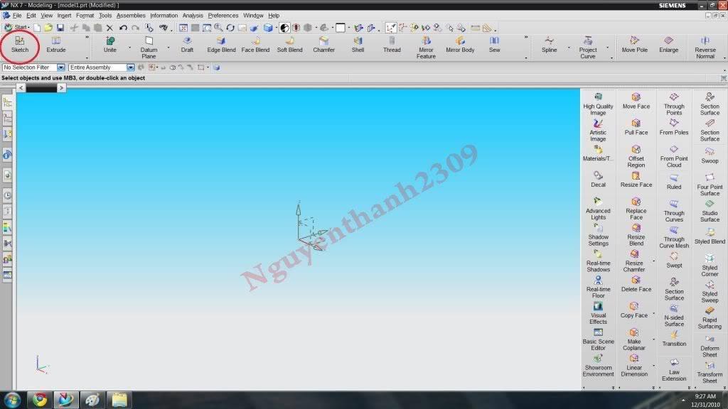 Hướng dẫn bài tập Unigraphic NX - Bài 1 NX_2