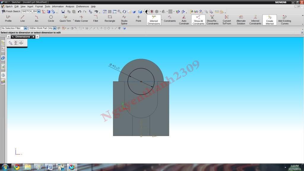 Hướng dẫn bài tập Unigraphic NX - Bài 1 NX_21