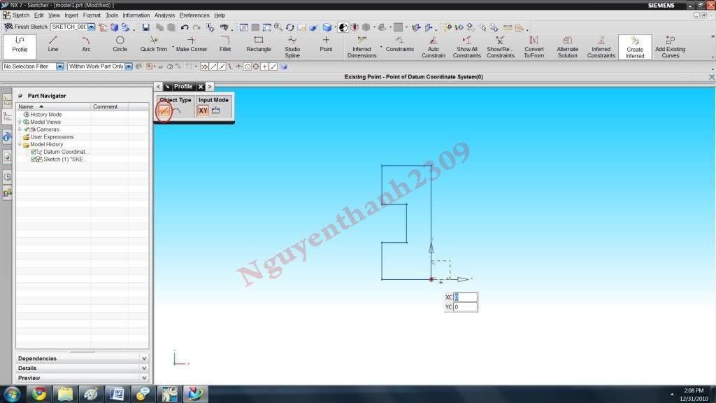 Hướng dẫn bài tập Unigraphic NX - Bài 1 NX_4