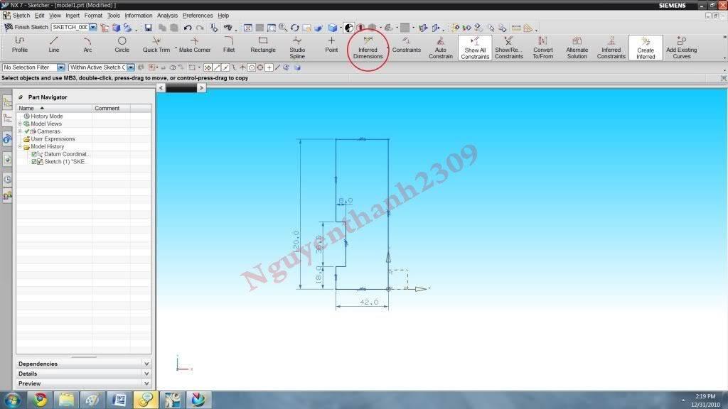 Hướng dẫn bài tập Unigraphic NX - Bài 1 NX_5