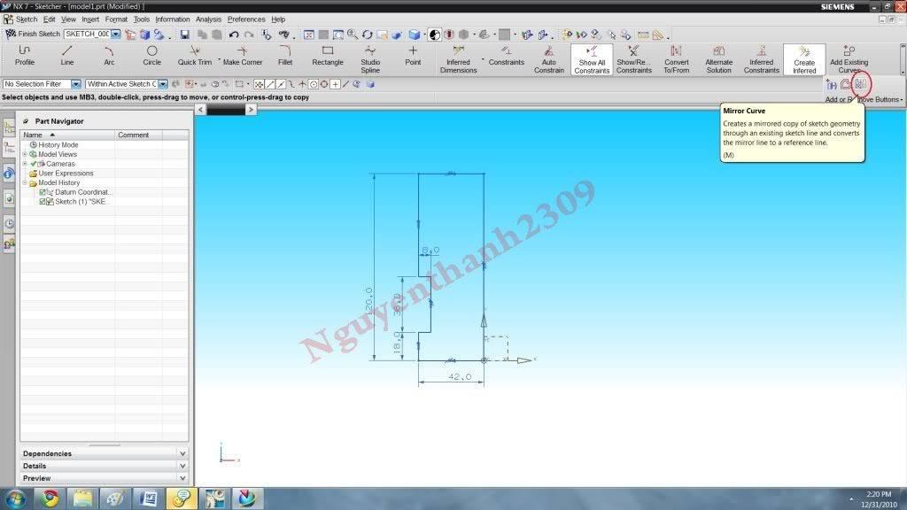 Hướng dẫn bài tập Unigraphic NX - Bài 1 NX_6