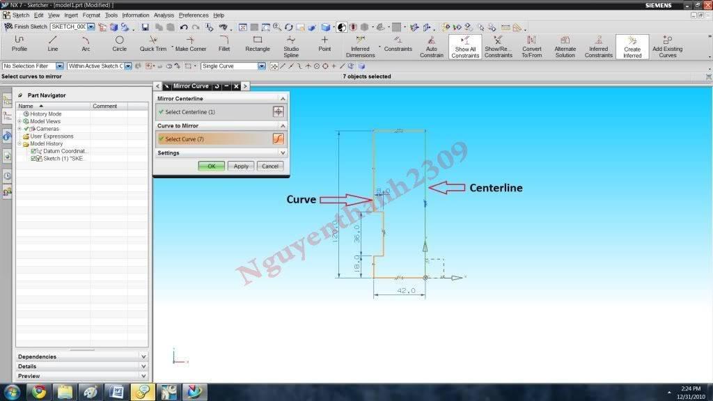 Hướng dẫn bài tập Unigraphic NX - Bài 1 NX_8