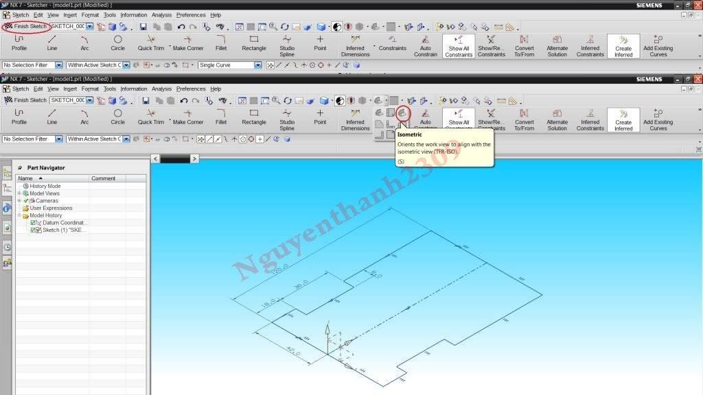 Hướng dẫn bài tập Unigraphic NX - Bài 1 NX_9