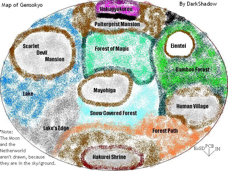Mapas de Gensokyo Gensokyo