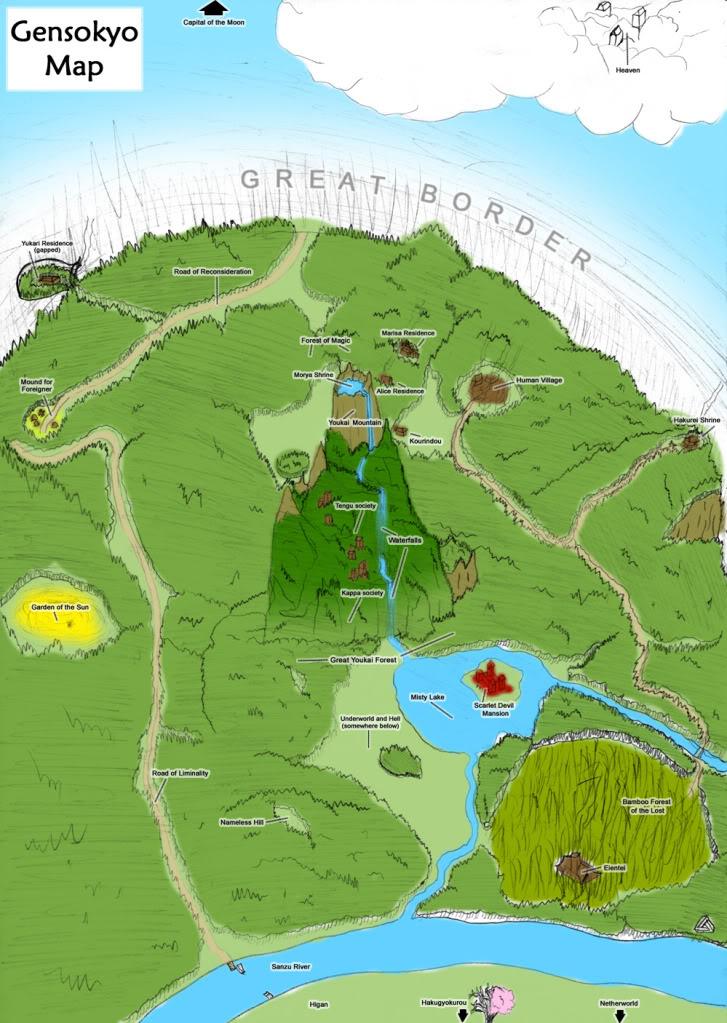 Mapas de Gensokyo Gensokyo_map