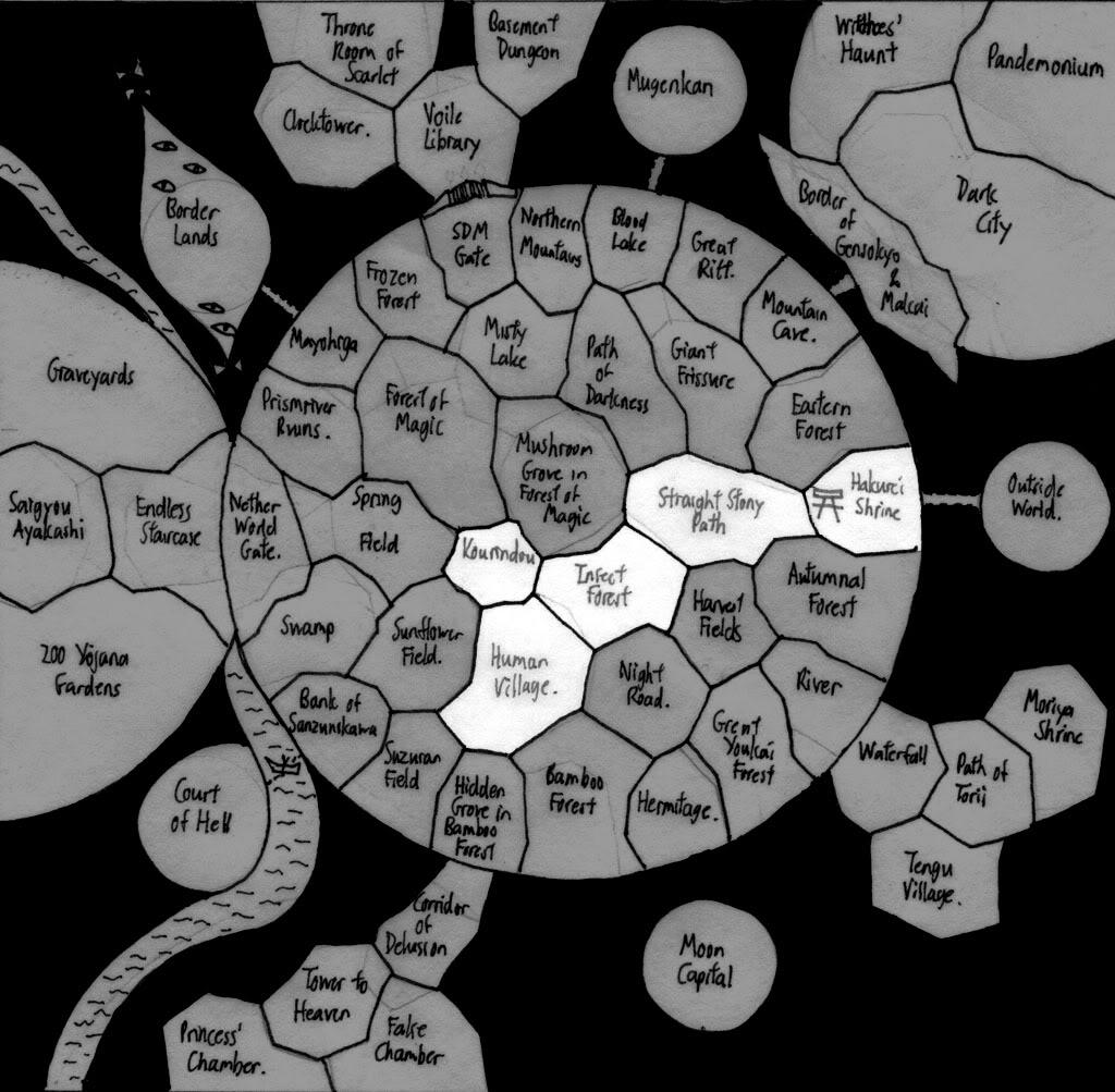 Mapas de Gensokyo Gensokyomaprequest