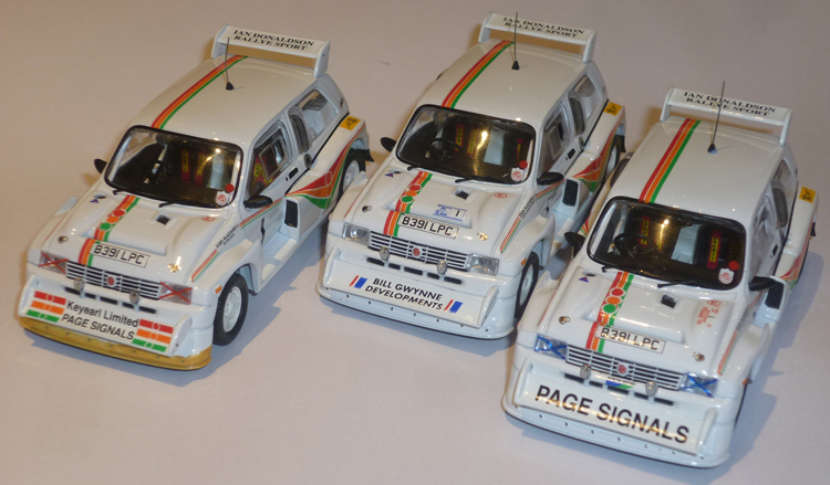 1/43 MG Metro 6R4 definitive list Mckera