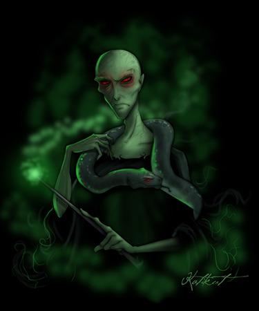 """Άρχοντας του Σκότους και οι """"Ανάγκες"""" του Voldemort_and_Nagini_by_Katikut"""