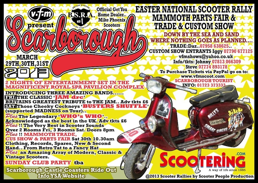 BSRA 1....... Scarborough Easter 2013  Scarb