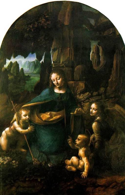 الرّسام العالمي الشهير ليوناردو دافينشي 1452 – 1519  Leonardo-VirginoftheRocks