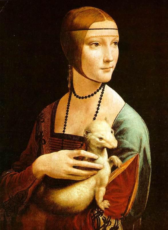 الرّسام العالمي الشهير ليوناردو دافينشي 1452 – 1519  Ermine