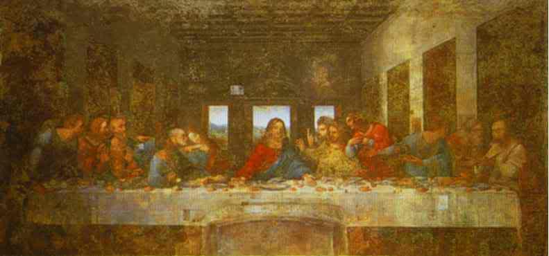 الرّسام العالمي الشهير ليوناردو دافينشي 1452 – 1519  The_last_supper