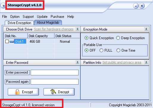 StorageCrypt (Password Protect Removable and External Disk Storagecrypt