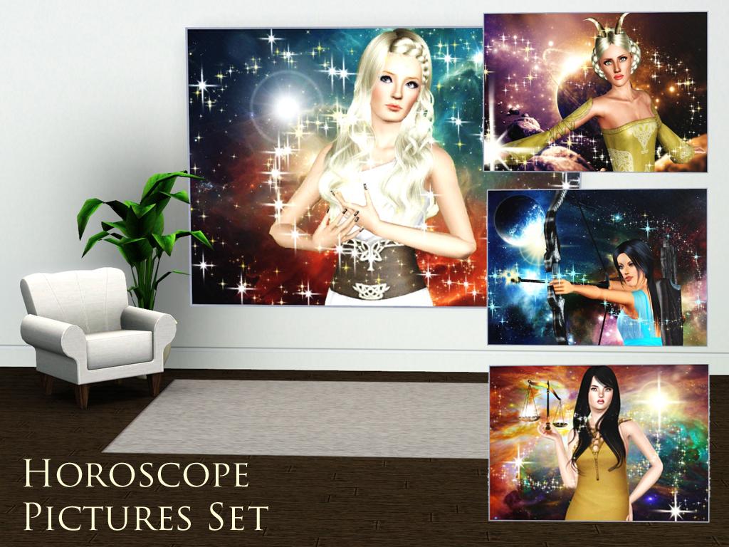 Simplistic Magazine Horoscope Picture Set HoroscopePicturesset1