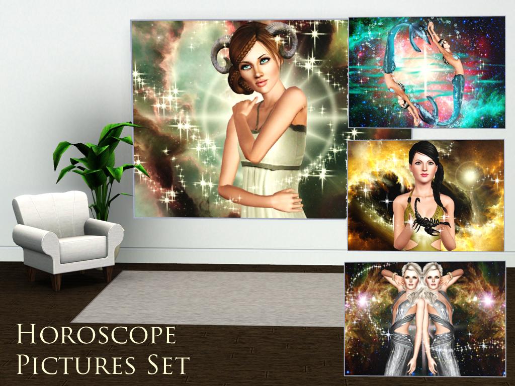 Simplistic Magazine Horoscope Picture Set HoroscopePicturesset2