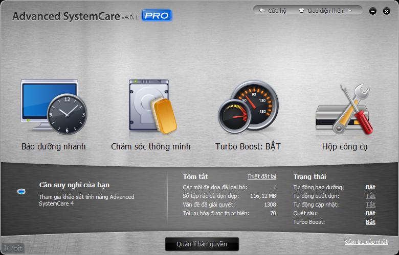 Tặng Key Crack Advanced SystemCare 4 Professinonal dùng miễn phí cả đời! 1-2