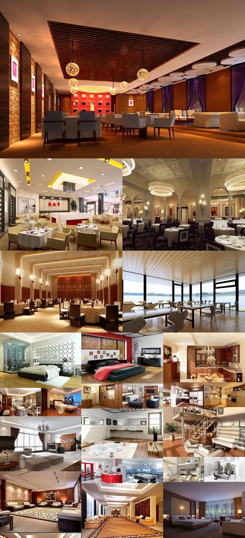 تحميل Modern interior scenes for 3D vol 02 Untitled-1-71