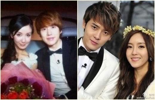 """[120127] KyuHyun de Super Junior y HyoMin de T-ara en la versión china de """"We Got Married"""" Wgm"""