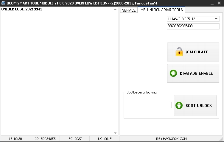 QCOM SMART TOOL v1.0.0.9820 - HUAWEI Y625 / Y560 UNLOCK BY IMEI 9820_zpsyzftfb6t