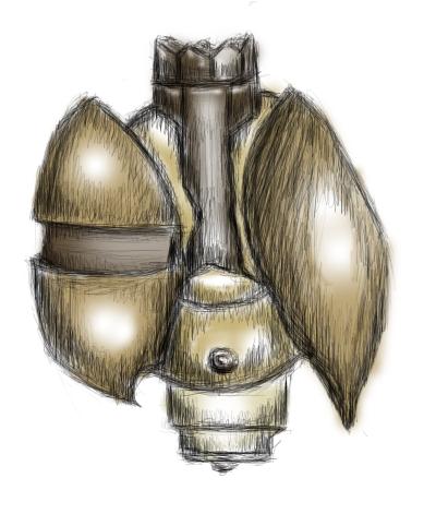 Elisa Castillo's Equipment Steampunk_grenade_by_raschu-d3dz3he