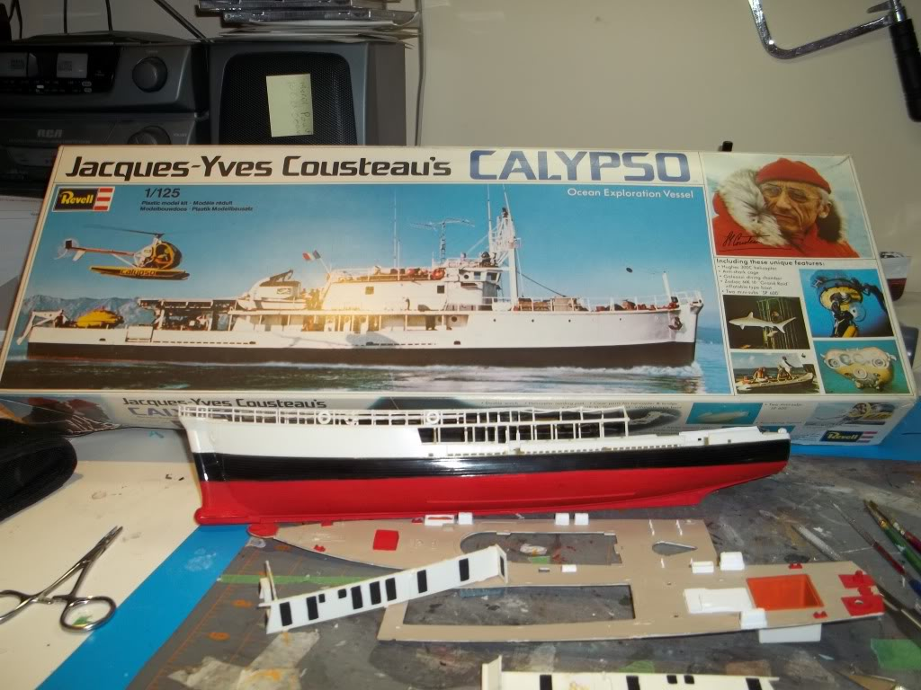 La Calypso de Revell au 1/125 100_0785