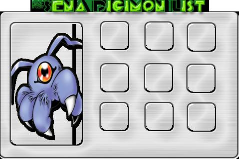 Digievoluções dos Digimons de 'Sena SenaList2
