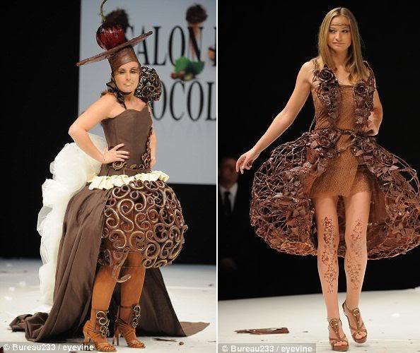 Sfilata në çokollatë, modeles i shkrin fustani në pasarelë ValentineFeaudheAncaRadici