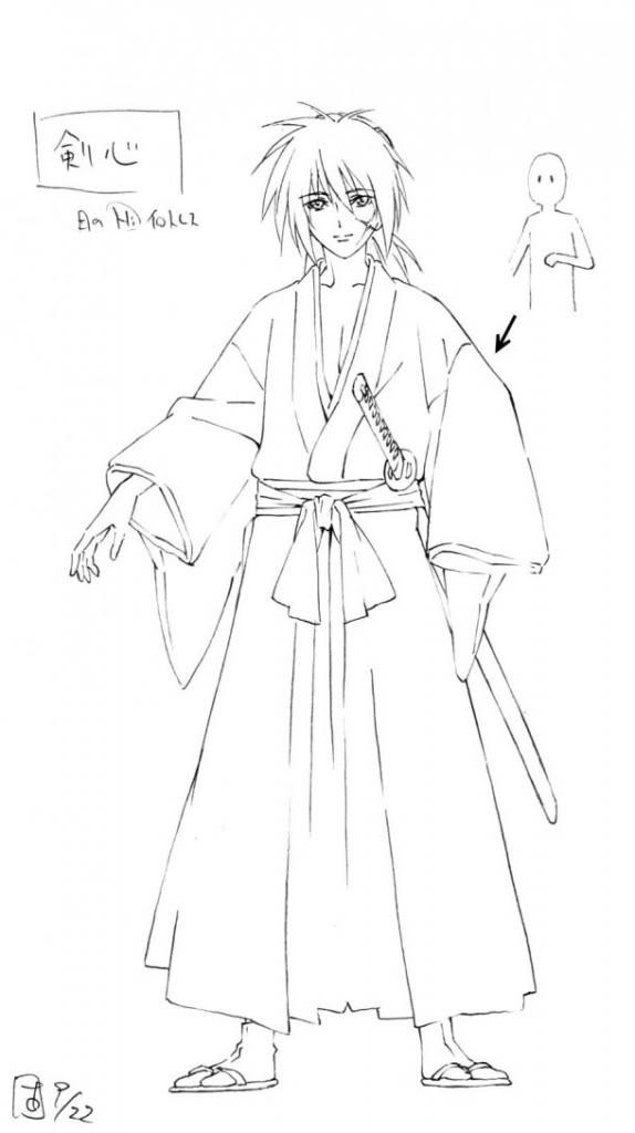 Nueva imagen de Rurouni Kenshin Shin Kyôto-hen Kenshin-boceto-574x1024