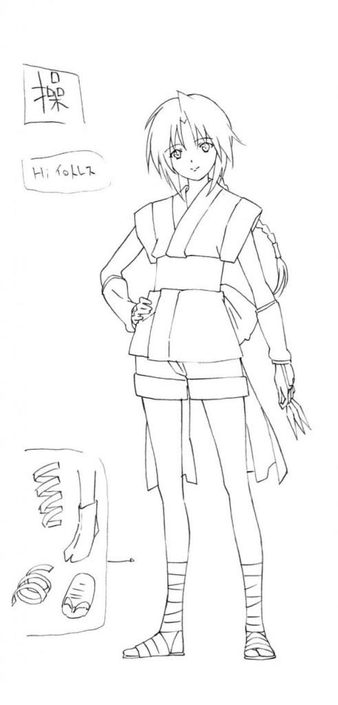 Nueva imagen de Rurouni Kenshin Shin Kyôto-hen Misao-boceto-491x1024