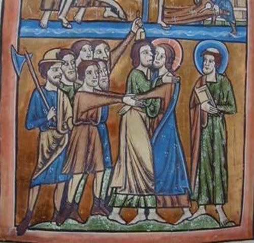 Lámpara medieval Anglais1210-1220StJohnsCollege