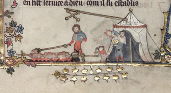 asador medieval Olla1