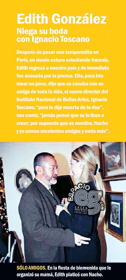 Tag amigos en Espacio EG - Edith González Nacho