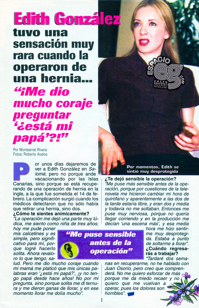 Tag salomé en Espacio EG - Edith González Hernia2