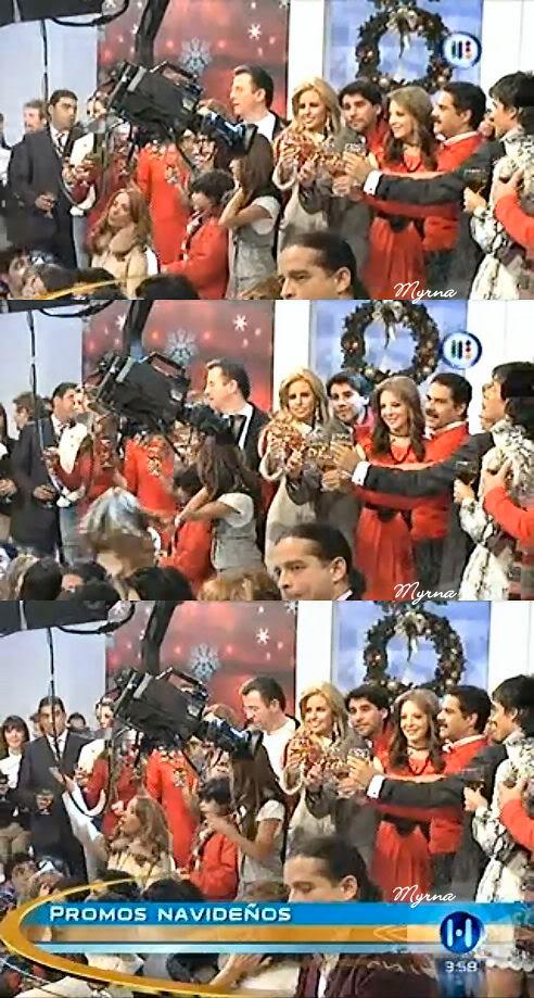 2010-11-30. [ FOTOS ] Grabaciones de los promos navideños de TV Azteca Promos7