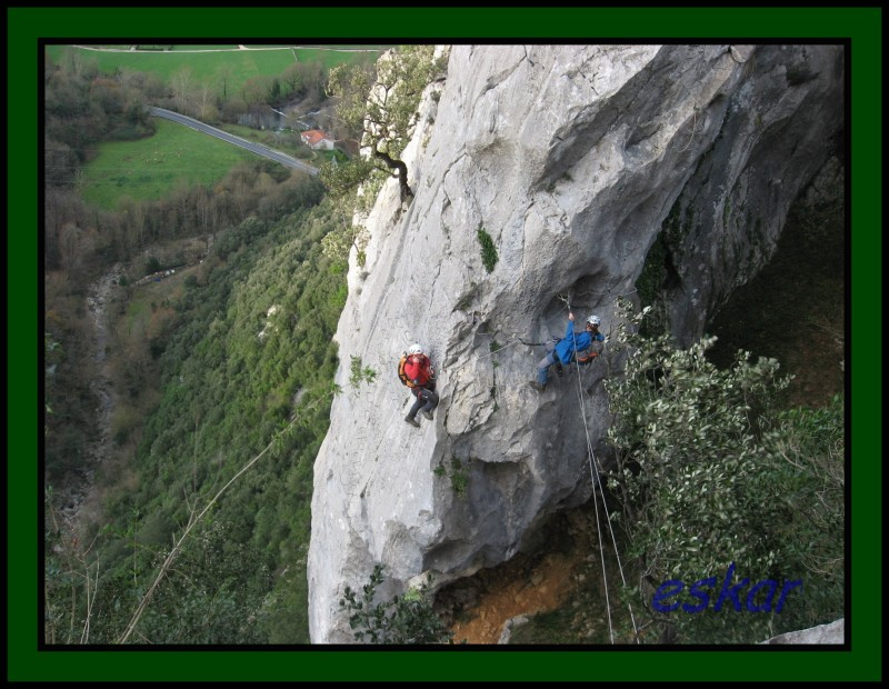 VIA FERRATA EL CALIZ, UNA GOZADA Vf29