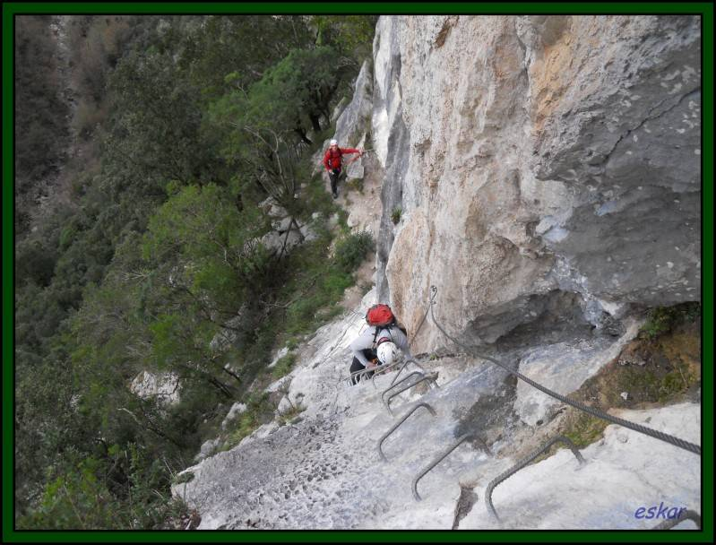 VIA FERRATA EL CALIZ, UNA GOZADA Vf5