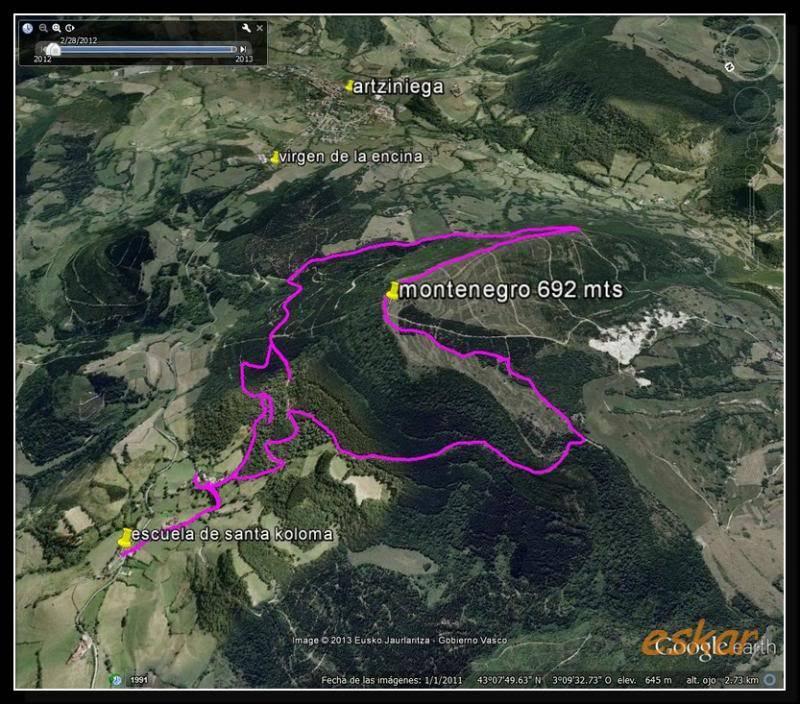 MONTENEGRO 692 MTS desde santa coloma (ARTZINIEGA) M1