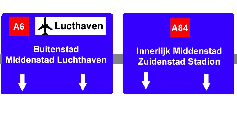 Update 1: Middenstad A6-A84sign