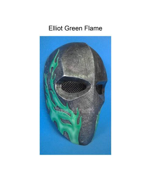 Tupa Mask Elliot4DGreenFlame