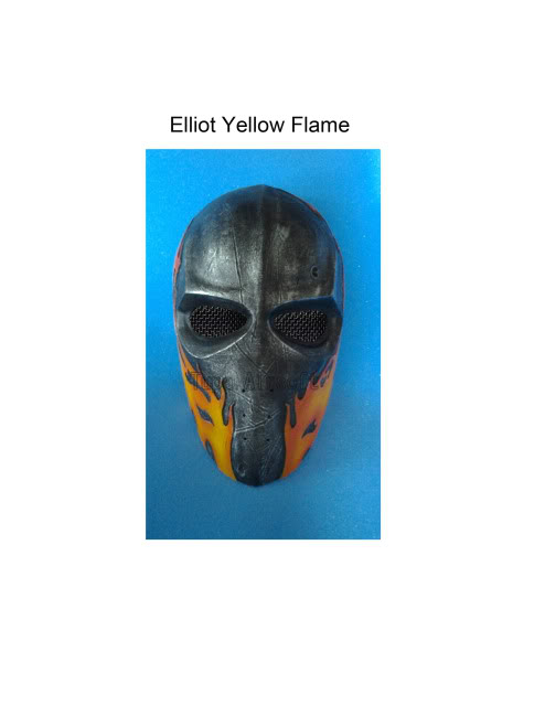 Tupa Mask Elliot4DYellowFlame