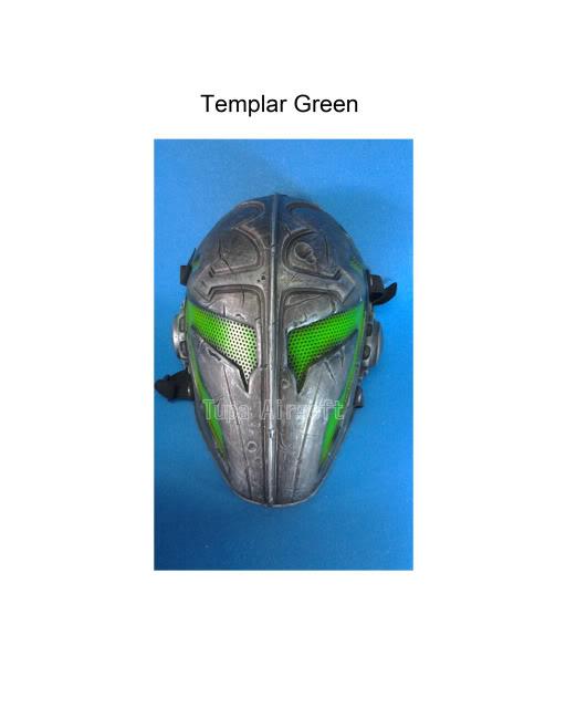 Tupa Mask TemplarGreen